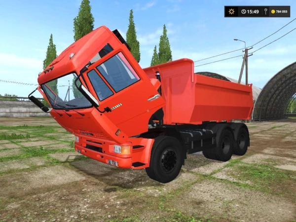 Мод грузовик КАМАЗ-65115 САМОСВАЛ V1.2 для Farming Simulator 2015