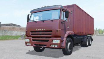 Мод грузовик КАМАЗ 65117 С ПРИЦЕПОМ СЗАП V2.0 для Farming Simulator 2015