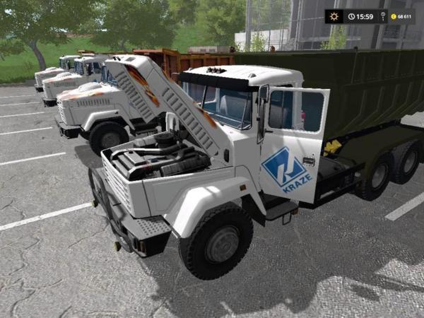 Мод грузовик КРАЗ 65055 V1.0.0.3 для Farming Simulator 2015