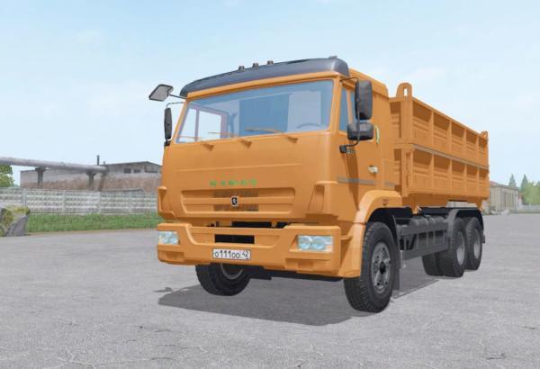 Мод грузовик КамАЗ 45143-6012-50 v1.0 для Farming Simulator 2015