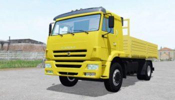 Мод грузовик КамАЗ 45253 v2.0 с прицепом для Farming Simulator 2015