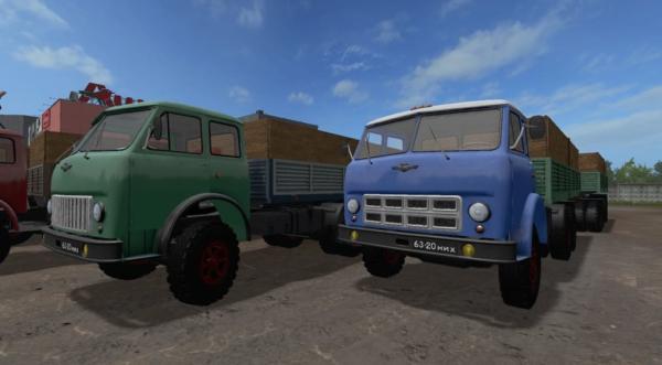 Мод грузовик МАЗ 514 v1.1.1 FIX GEAR BOX для Farming Simulator 2015