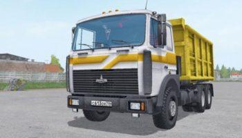 Мод грузовик МАЗ 5516X5-480-050 V2.0 для Farming Simulator 2015