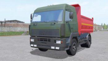 Мод грузовик МАЗ 555035 4X4 V3.0 для Farming Simulator 2015