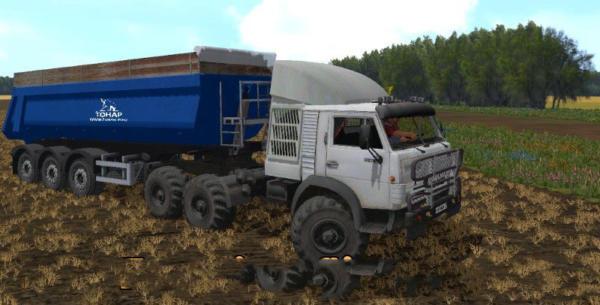 Мод грузовик MR KAMAZ 4310 TURBO для Farming Simulator 2015