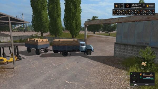 Мод грузовик ЗИЛ-130 И ПРИЦЕП V09.04.2019 для Farming Simulator 2015