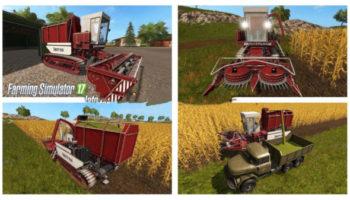 Мод комбайн Амур-680 V1.0.0.2 для Farming Simulator 2015