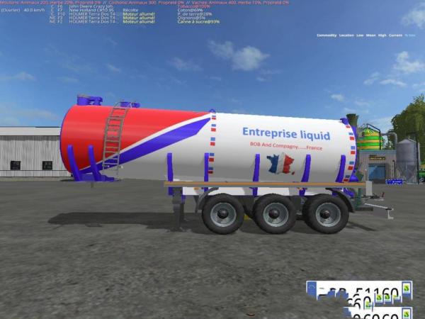 Мод прицеп LIQUID TRAILER PACK51 BY BOB51160 V1.0 для Farming Simulator 2015
