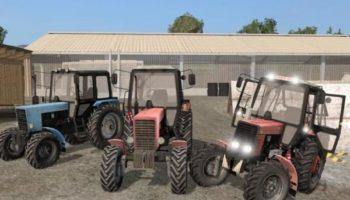 Мод ПАК МТЗ-82 Белорусы V1.0 для Farming Simulator 2015