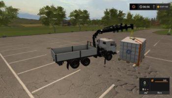 Мод грузовик КАМАЗ-55102 МАНИПУЛЯТОР V1.2 для Farming Simulator 2015