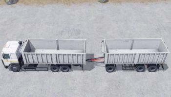 Мод грузовик МАЗ 6303 с прицепом МАЗ 856102-5010 v1.0 для Farming Simulator 2015