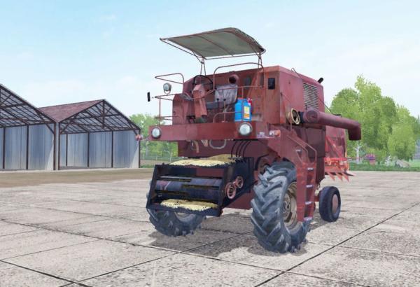 Мод комбайн Bizon Z056 v2.0 для Farming Simulator 2015