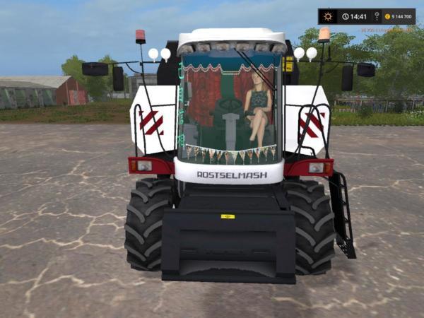 Мод комбайн РОСТСЕЛЬМАШ ВЕКТОР 410 V2.0 для Farming Simulator 2015