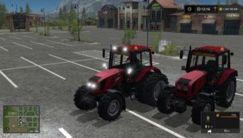 Мод трактор Беларус 1220 МТЗ красный v2.0 для Farming Simulator 2015