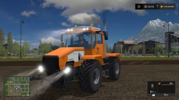 Мод трактор ХТА 220.2 Слобожанец желтый v1.0 для Farming Simulator 2015