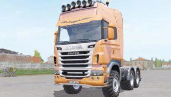 Мод тягач Scania R730 Topline v1.0 для Farming Simulator 2015