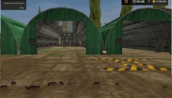 Мод хранилище тюков LARGE SQUARE BALE STORAGE V1.1 для Farming Simulator 2015