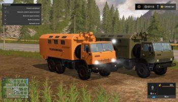 Мод КАМАЗ 43118 ТЕХПОМОЩЬ V1.3.0.5 для Farming Simulator 2015