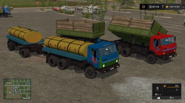 Мод ПАК КАМАЗ 55102 И АДДОНЫ V1.2 для Farming Simulator 2015