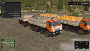 Мод ПАК КАМАЗ 55102S И ПРИЦЕП V1.0 для Farming Simulator 2015