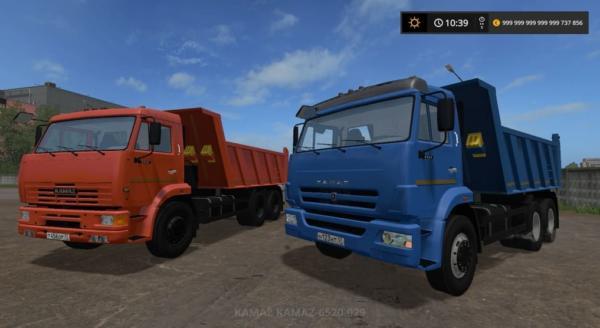 Мод ПАК КАМАЗ-6520-029 18Т V1.1 для Farming Simulator 2015