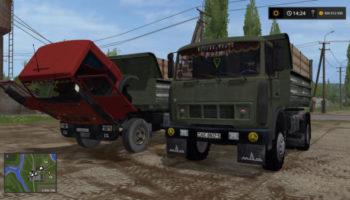 Мод ПАК МАЗ 5551 КРАСНЫЙ И ЗЕЛЁНЫЙ V1.1 для Farming Simulator 2015