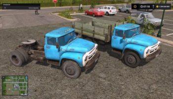 Мод ПАК ЗИЛ-130 БОРТОВОЙ И ТЯГАЧ V1.0 для Farming Simulator 2015