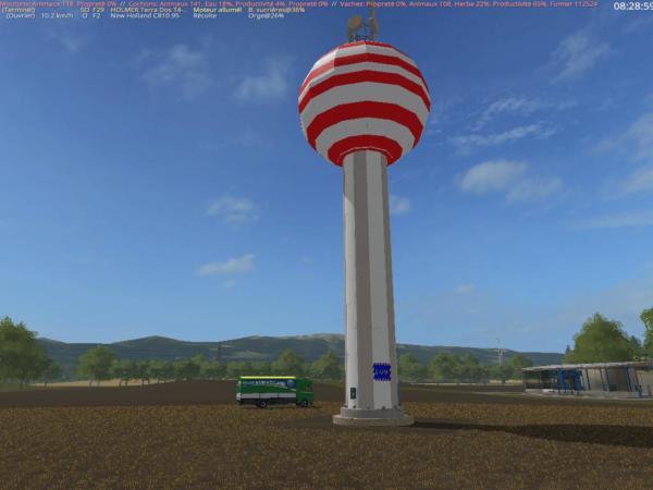 Мод Placeable watertower v1.5 для Farming Simulator 2015