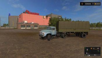 Мод ЗИЛ-130 ТЯГАЧ С ПОЛУПРИЦЕПОМ ОДАЗ ДЛЯ КАРТЫ РОССИЯ V1.2 для Farming Simulator 2015