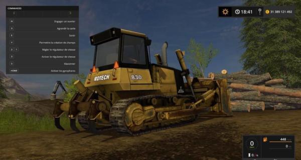 Moд бульдозер Rotech 830 Bulldozer v1.0 для Farming Simulator 2015