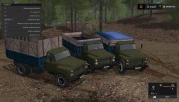 Мод грузовик ГАЗ 53 ХАКИ V1.0 для Farming Simulator 2015