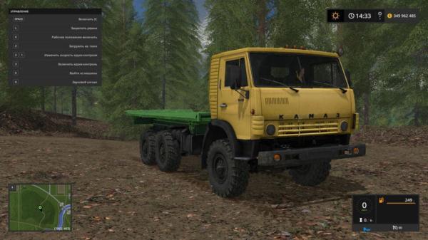 Мод грузовик КАМАЗ 4310 ПЛАТФОРМА V2.4 для Farming Simulator 2015