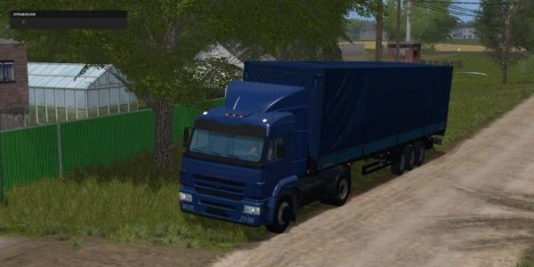 Мод грузовик КАМАЗ 5460 И ПОЛУПРИЦЕПА V3.0 для Farming Simulator 2015