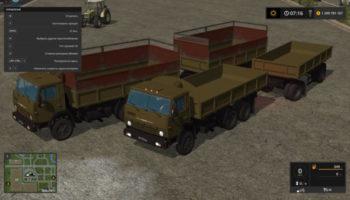 Мод грузовик КАМАЗ 55102 С ПРИЦЕПОМ V1.0 для Farming Simulator 2015