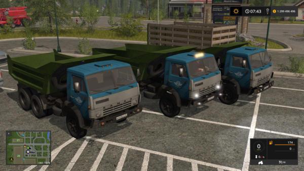 Мод грузовик КАМАЗ 5511 СОВОК V1.1 для Farming Simulator 2015