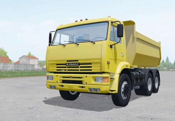 Мод грузовик КАМАЗ-65115 6Х4 V1.0 для Farming Simulator 2015