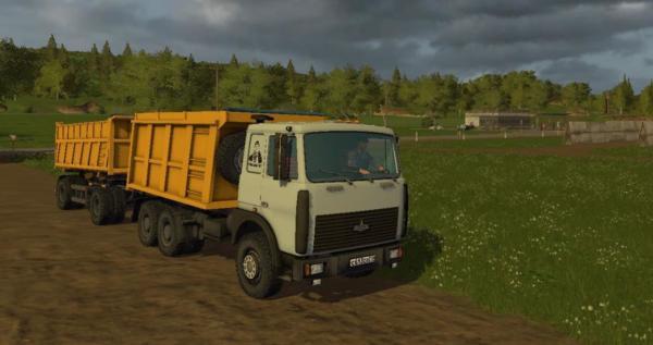 Мод грузовик МАЗ-5516 V2.4 для Farming Simulator 2015