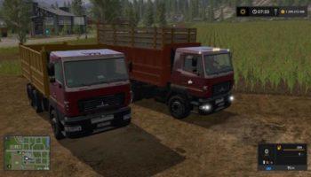 Мод грузовик МАЗ 6501 C5 V1.2 для Farming Simulator 2015