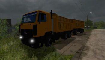 Мод грузовик МАЗ-6501 V1.0 для Farming Simulator 2015