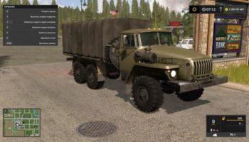 Мод грузовик УРАЛ 4320 БОРТОВОЙ V1.0 для Farming Simulator 2015