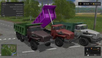 Мод грузовик УРАЛ 4320 САМОСВАЛ V2.0 для Farming Simulator 2015