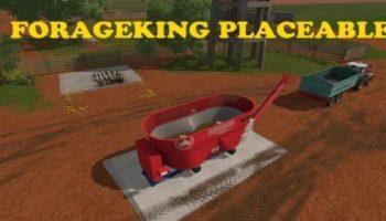 Мод кормосмеситель FORAGEKING PLACEABLE V1.0 для Farming Simulator 2015