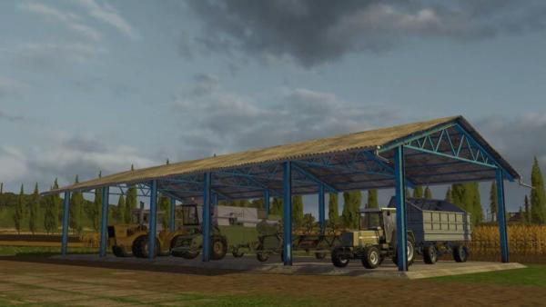 Мод навес VEHICLE SHELTER V1.0 для Farming Simulator 2015