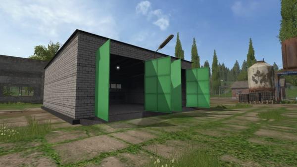 Мод покупаемый гараж для карты Россия V1.1 для Farming Simulator 2015