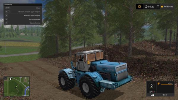 Мод трактор К-701 КИРОВЕЦ ГОЛУБОЙ V2.0 для Farming Simulator 2015