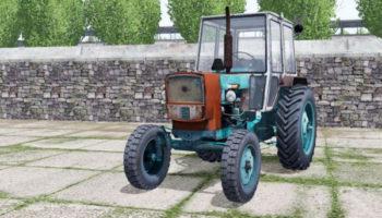 Мод трактор ЮМЗ-6КЛ БИРЮЗОВЫЙ ОКРАС V2.0 для Farming Simulator 2015
