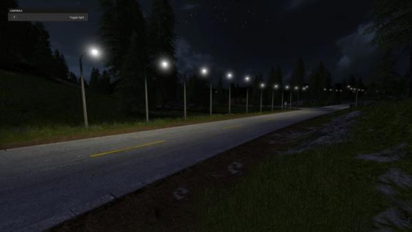 Мод ПАК фонарей MANUAL LIGHTS V1.0 для Farming Simulator 2015
