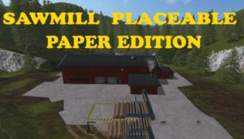 Мод лесопилка SAWMILL NEW V1.1.5 для Farming Simulator 2015