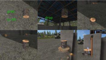 Мод пеньки CHOPPING BLOCK V1.0 для Farming Simulator 2015