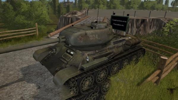Мод танк Placeable T-34-85 v1.0 для Farming Simulator 2015